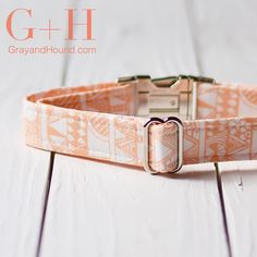 It's the last day of the launch and today's collar is a beautiful neutral collar with a tribal pattern and a light orange color. #GrayandHound #springcollection . Use Code: TeamGH for 20% off of $15.00 at GrayandHound.com. by grayhoundcollections#dogcollar #lacyandpaws