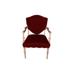 The Truman: Vintage Burgundy Velvet Tufted Arm Chair || Something Vintage Rentals: Vintage rentals and handcrafted pieces for weddings and events in DC, Maryland, and Virginia ||