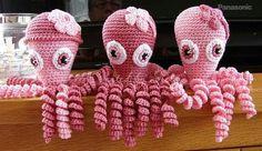 Deze inktvisjes zijn gemaakt door Sieta Vegter.