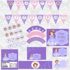 Princess Sofia DIGITAL Birthday Party Kit by MyDarlinDesigns, $22.00