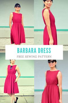 UPDATED FREE SEWING PATTERN: Barbara Dress pattern This beautiful dress is one of our readers' favorite free pattern from our collection. We are happy to bring it back to you with this classic and sophisticated summer look.