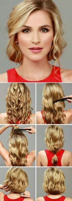 How to make a short bob with long hair. Soooo cute!