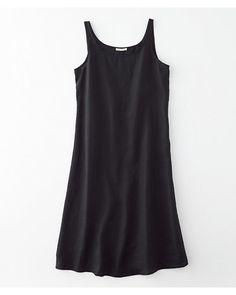 Eileen Fisher Organic Handkerchief Linen Scoop-Neck Dress