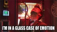 Doctor who feels we all were in a glass case of emotion at this moment drowning in tears