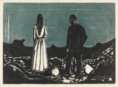 More about Edvard Munch, Two Human Beings. The Lonely Ones
