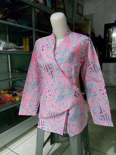 Batik Blazer, Blouse Batik, Batik Dress, Korea Fashion, Muslim Fashion, Hijab Fashion, African Fashion Traditional, Korean Traditional Dress, Dress Batik Kombinasi