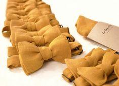 Noeud papillon jaune moutarde pochette mariage lecoqenpap.fr