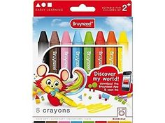 BRUYNZEEL Crayon Thick (8 Pieces). Free Shipping