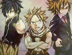 Natsu,Gray,and loke so amazing!