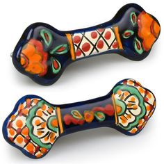 Talavera drawer or cabinet handles. These hand painted ceramic pulls add colorful Mexican flair to any bathroom or kitchen.