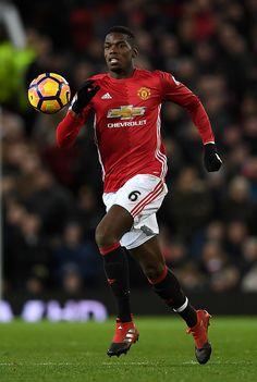 Paul Pogba of Manchester United during the Premier League match between Manchester United and Sunderland at Old Trafford on December 26 2016 in...