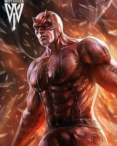 Daredevil by Wizyakuza on DeviantArt Marvel Comic Character, Comic Book Characters, Marvel Characters, Comic Books Art, Comic Art, Arte Dc Comics, Marvel Comics Art, Marvel Heroes, Anime Comics