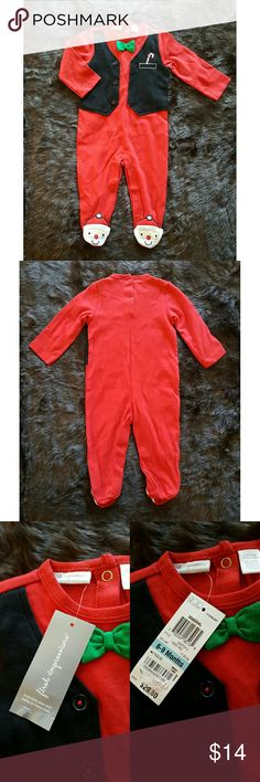 First Impressions Christmas Baby One Piece Brand: First impressions  Size: for 6-9 months (17-22 lbs) or 26 1/2 - 28 inches First Impressions One Pieces Footies