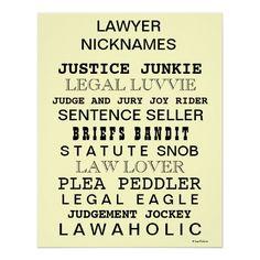 Lawyer nicknames