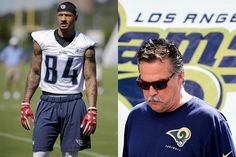 Los Angeles Rams Head Coach Jeff Fisher Teaches Young Receiver A Very Important Lesson