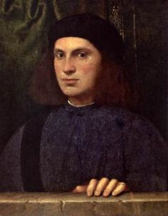 BONIFACIO VERONESE (b. 1487, Verona, d. 1557, Venezia)   Click! Portrait of a Young Man  1510s Oil on canvas transferred from panel, 48 x 38 cm The Hermitage, St. Petersburg  The soft shape of the face, the rhythm of rounded lines forming a simple balanced composition, the man's thoughtful look seemingly detached from earthly realities - these elements speak of the influence of Giorgione, who ruled the minds of Venetian artists in the first half of the 16th century. This portrait, one of…