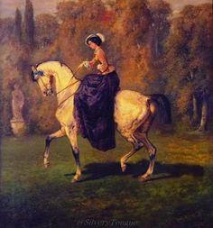 Helene Von thurn und Taxis, sister of Sissi by Adolph Schreyera.