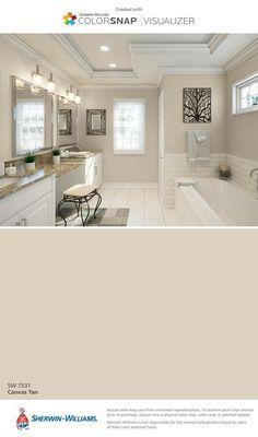 Kitchen paint ideas tan dining rooms 40 ideas for 2019 Bathroom Paint Colors, Kitchen Paint Colors, Paint Colors For Living Room, Paint Colors For Home, Tan Bathroom, Beige Paint Colors, Bathroom Ideas, Parisian Bathroom, Bathroom Canvas