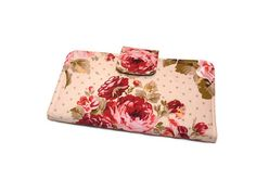 Rose Wallet with 6 Credit Card Slots Zipper by DianesDiversions