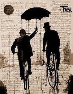 "Saatchi Art Artist: Loui Jover; Pen and Ink 2013 Drawing ""the umbrella"" saatchiart.com"