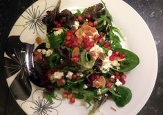 Pomegranate baby leaf rocket salad Recipe -  How are you today? How about making Pomegranate baby leaf rocket salad?