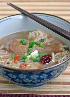 Piggy's Cooking Journal: Herbal Duck Noodle (鸭腿面线)