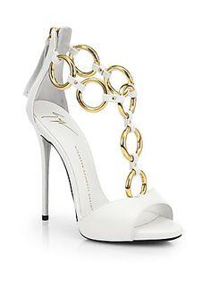 Giuseppe Zanotti Leather Chain-Strap Sandals