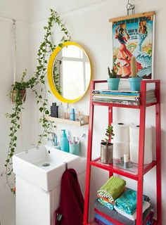 10 Small Bathroom Decorating Ideas That Are Major Goals, Home Accessories, Cute bathroom ideas! Cute Bathroom Ideas, Bathroom Colors, Colorful Bathroom, Bathroom Small, Bling Bathroom, Bathroom Accents, Master Bathroom, Mosaic Bathroom, Bathroom Sets
