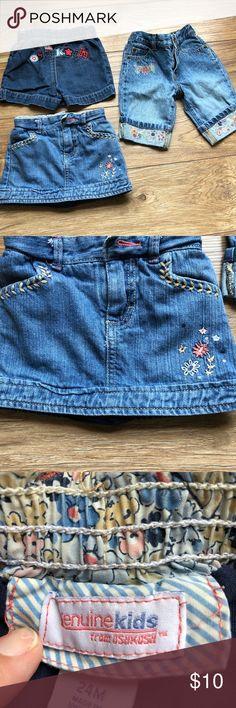 Girls bundle 6-12 mo, 18 mo and 24 mo Girls bundle Gap Capris 6-12 months Oshkosh Shorts 18 months Oshkosh Skorts 24 months Bottoms Jeans