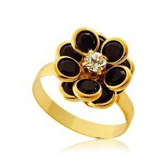$30 Onyx Ring 18K Plated, info@bijuterie-online.ro