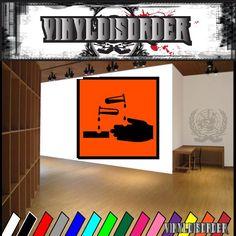 Hazardous Safety Sign Wall Decal - Vinyl Sticker - Car Sticker - Die Cut Sticker - CD009