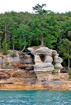 Chapel Rock Pictured Rocks National Park U.P Michigan