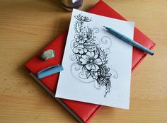 #tattoo #slovakia #banskabystrica #design #flower #sketch #ornamental #eweltattoo