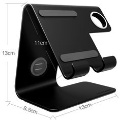 Apple Watch Stand, ZVEproof 2 in 1 Universal Desktop Cellphone Stand and Apple Watch Stand, Aluminum iWatch iPhone Tablet Charging Station Stand Dock for Phone and Apple Watch, Black Diy Phone Stand, Tablet Stand, Metal Sheet Design, Sheet Metal, Mobile Stand, Phone Gadgets, Android Smartphone, Welding Projects, Desk Accessories