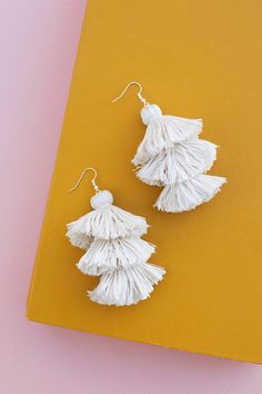 DIY Tiered Tassel Earrings | Making Nice in the Midwest | Bloglovin'