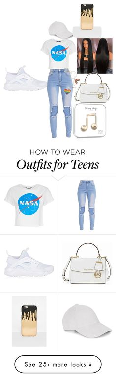 """""""Untitled #89"""" by royalchaz on Polyvore featuring Le Amonie, Michael Kors, Missguided and NIKE"""