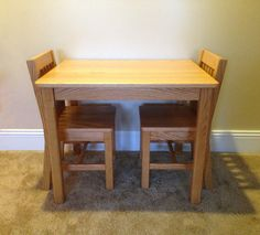 Children's Table and 2 Chairs Set 14 seat height by ShowOffDesigns