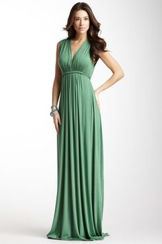 Sleeveless Caftan Maxi Dress in the green that is going to be everywhere this season