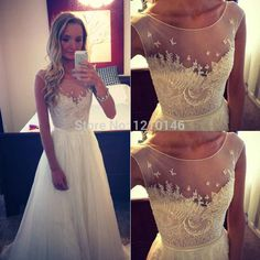 Find More Prom Dresses Information about Charming A Line Scoop Sleeveless Chiffon Sheer Embroidery Beaded Prom Dress 2015,High Quality bead design,China beaded bridesmaid dresses Suppliers, Cheap beaded fabric for dresses from TOPGOWNS on Aliexpress.com
