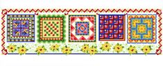 Fiesta Quilts - cross stitch pattern designed by Ursula Michael. Category: Quilts.