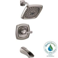 Delta Tolva H2Okinetic Single-Handle 3-Spray Tub and Shower Faucet in Stainless 144724-SS at The Home Depot - Mobile