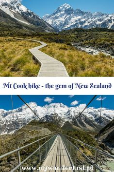Mt Cook hike in pict