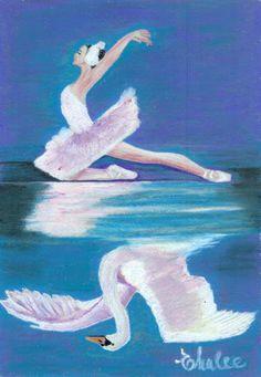 swan lake revisited by elena malec Swan Lake Story, Duck Pond, Ballet Art, Grimm Fairy Tales, Dance Art, Faeries, Purple Flowers, Illustration, Love