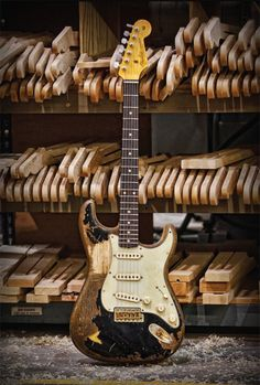 Fender, Fender Stratocaster John Mayer 'The Black One Relic'.