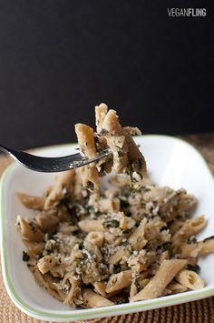 Spinach Artichoke Pasta | Vegan Fling