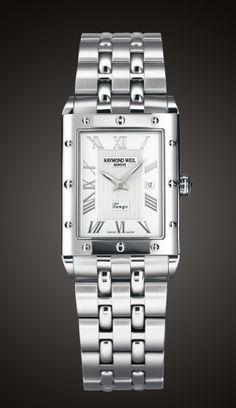 Tango, Rectangular, Steel on steel raymond-weil-for-gents Raymond Weil, Luxury Watches For Men, Beautiful Watches, Square Watch, Tango, Rolex Watches, Bracelet Watch, Quartz, Mens Fashion
