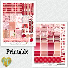 February printable planner stickers February by PlannerDecorator