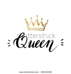 Online princess crown logo design free logo maker pinterest hand lettering with word queen background with gold crown decorating of invitationsgreeting stopboris Choice Image