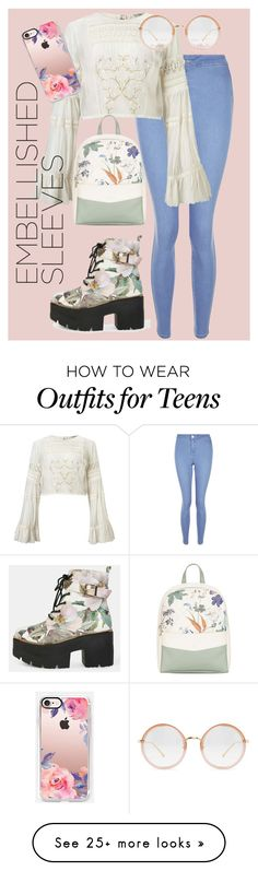 """""""Embell"""" by pokeygirlllll on Polyvore featuring New Look, Miss Selfridge, Fiorelli, Linda Farrow and Casetify"""