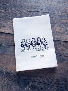 Feed Me Chickens  Screen Print Cotton Napkin Set by TheCoinLaundry, $20.00